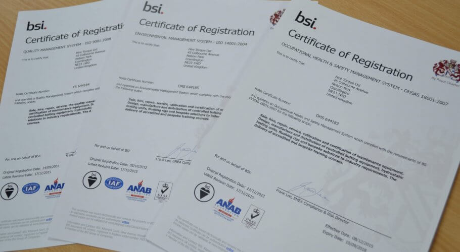 HTL Group awarded triple badged ISO certification