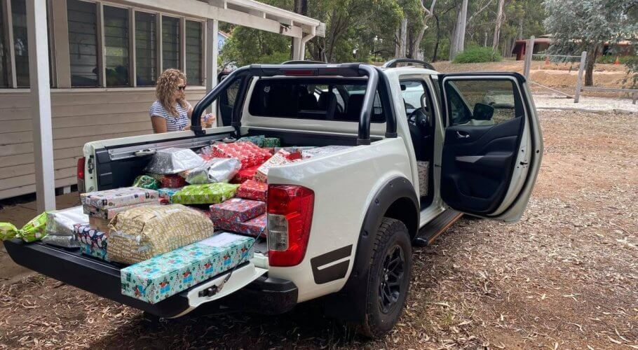 HTL Australasia Xmas Gifts in Truck