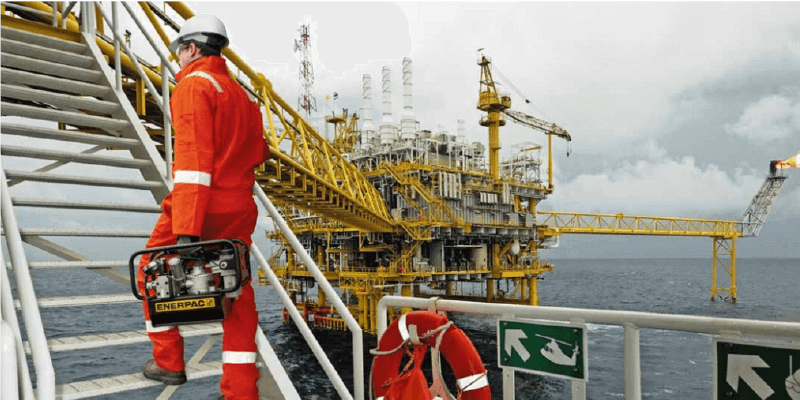 Enerpac Pump on Offshore Rig