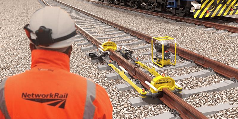 Enerpac Rail Puller Application